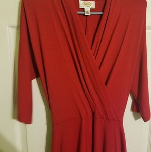 Talbots Red dress ONLY WORN ONCE